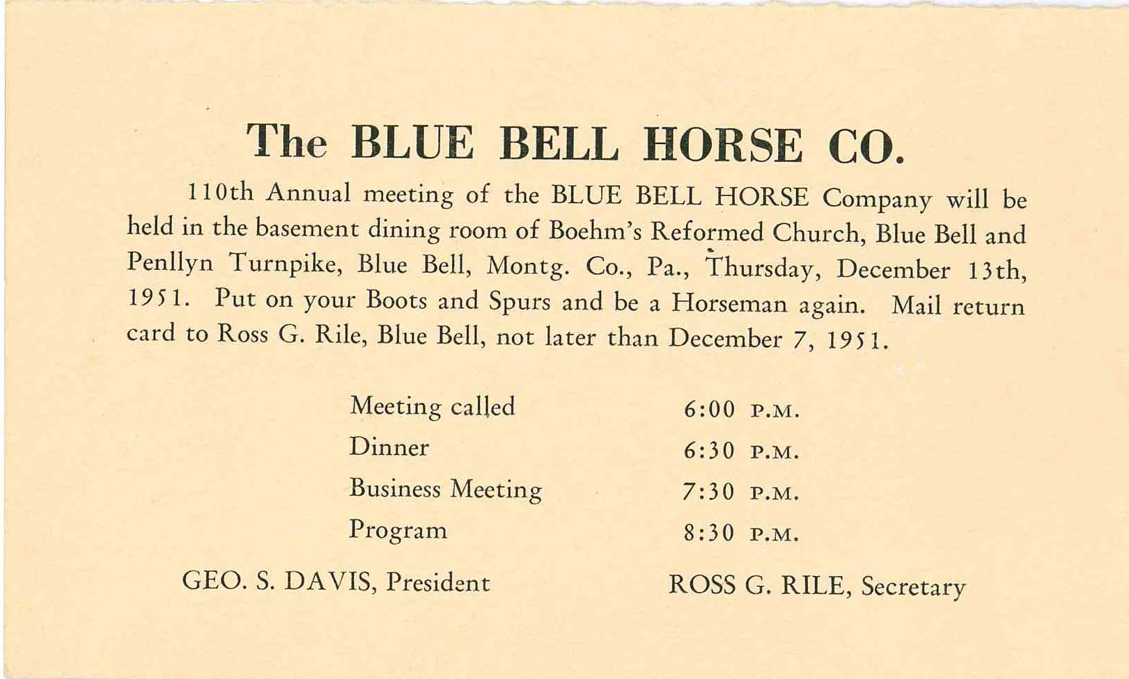 Blue bell horse company