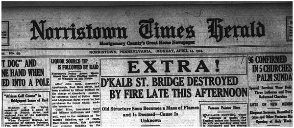 bridge fire